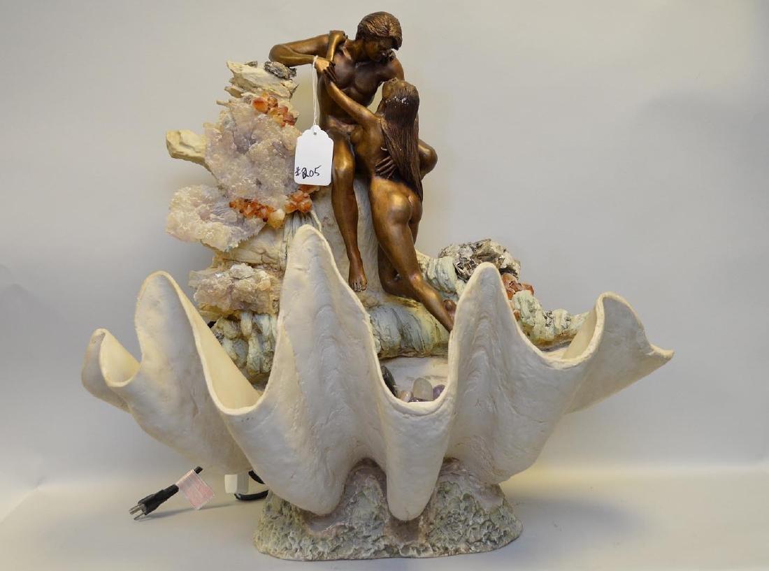 Manuel Vidal bronze Fountain sculpture of lovers on a