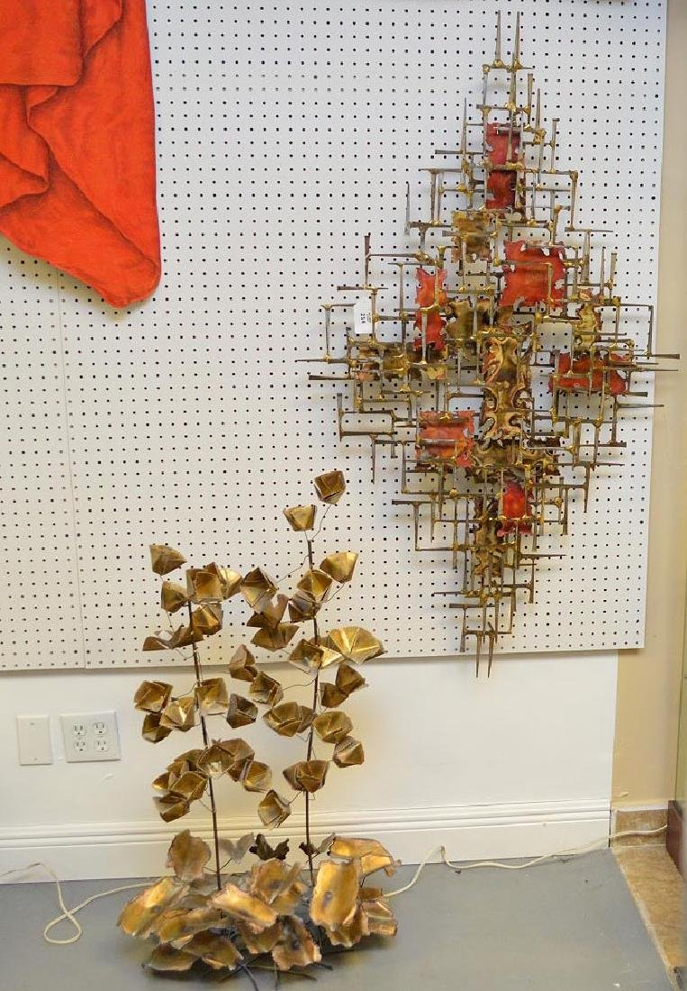 2 pieces sold together: Modern wall sculpture , iron
