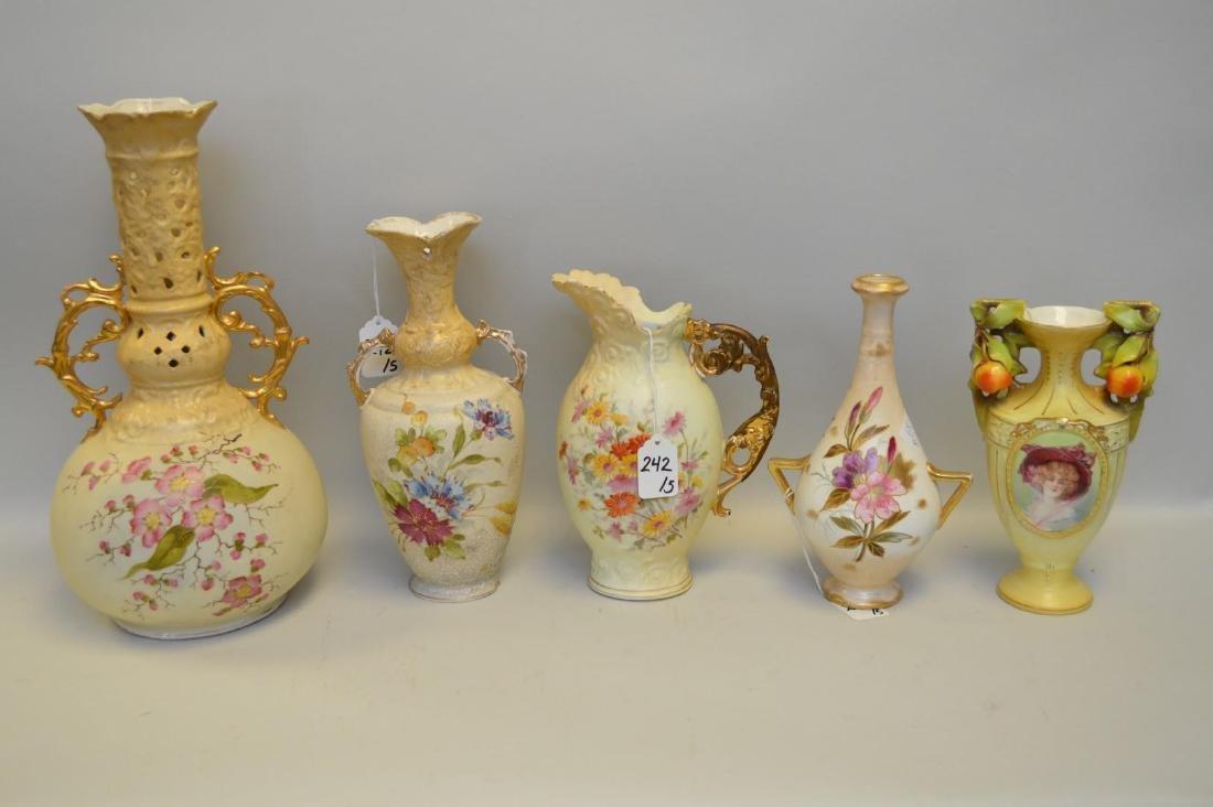 Five German & Austrian Porcelain Vessels - Includes: