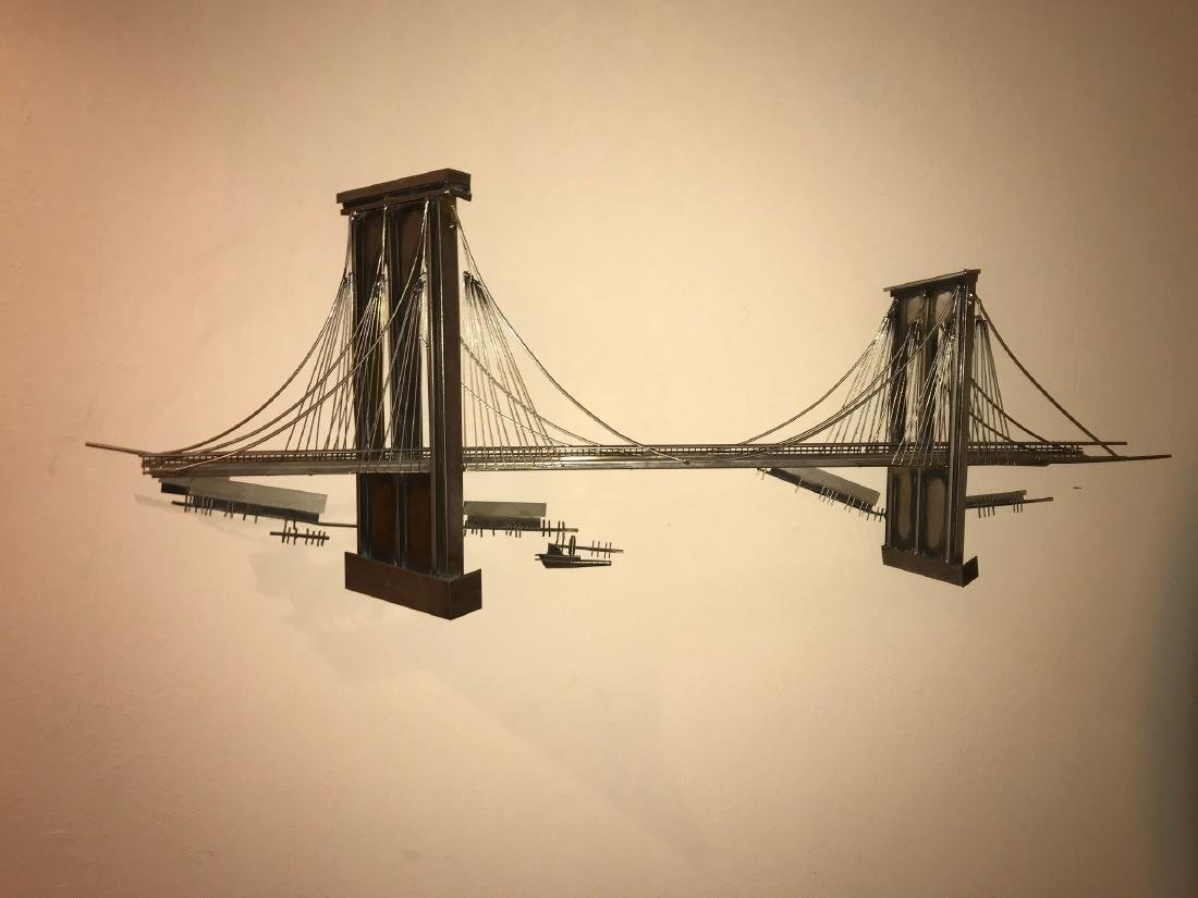"Curtis Jere Brooklyn Bridge Sculpture, 22"" x 59"""