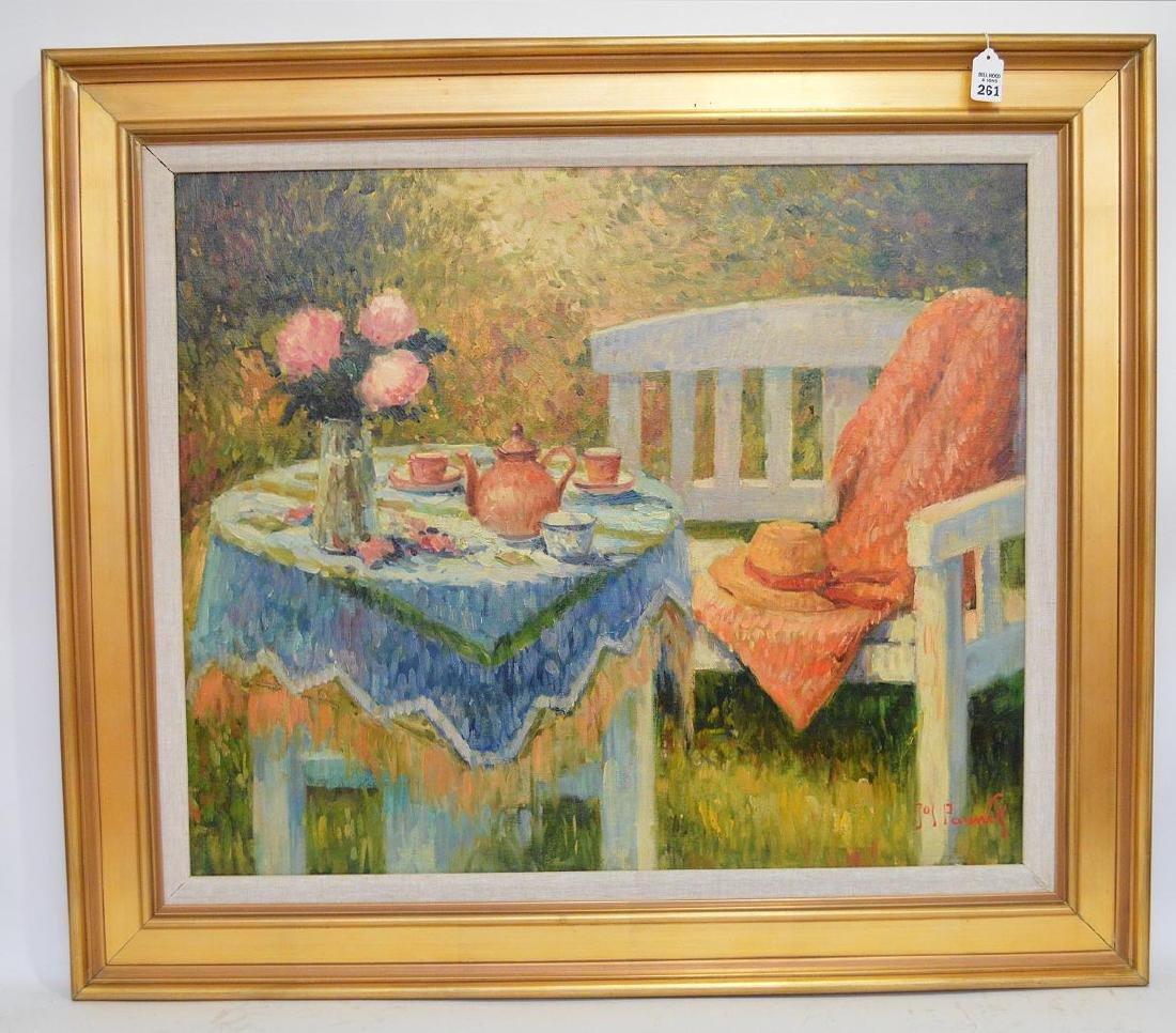 Jos Pauwels (Belgian 1918-1976) Oil on canvas, GARDEN