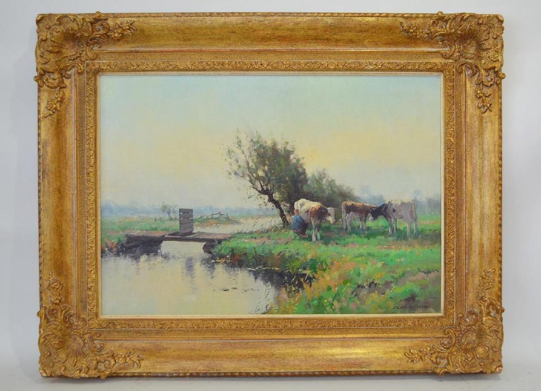 Jan C. Van der Heyden (Dutch, 1911-1988) oil on canvas,
