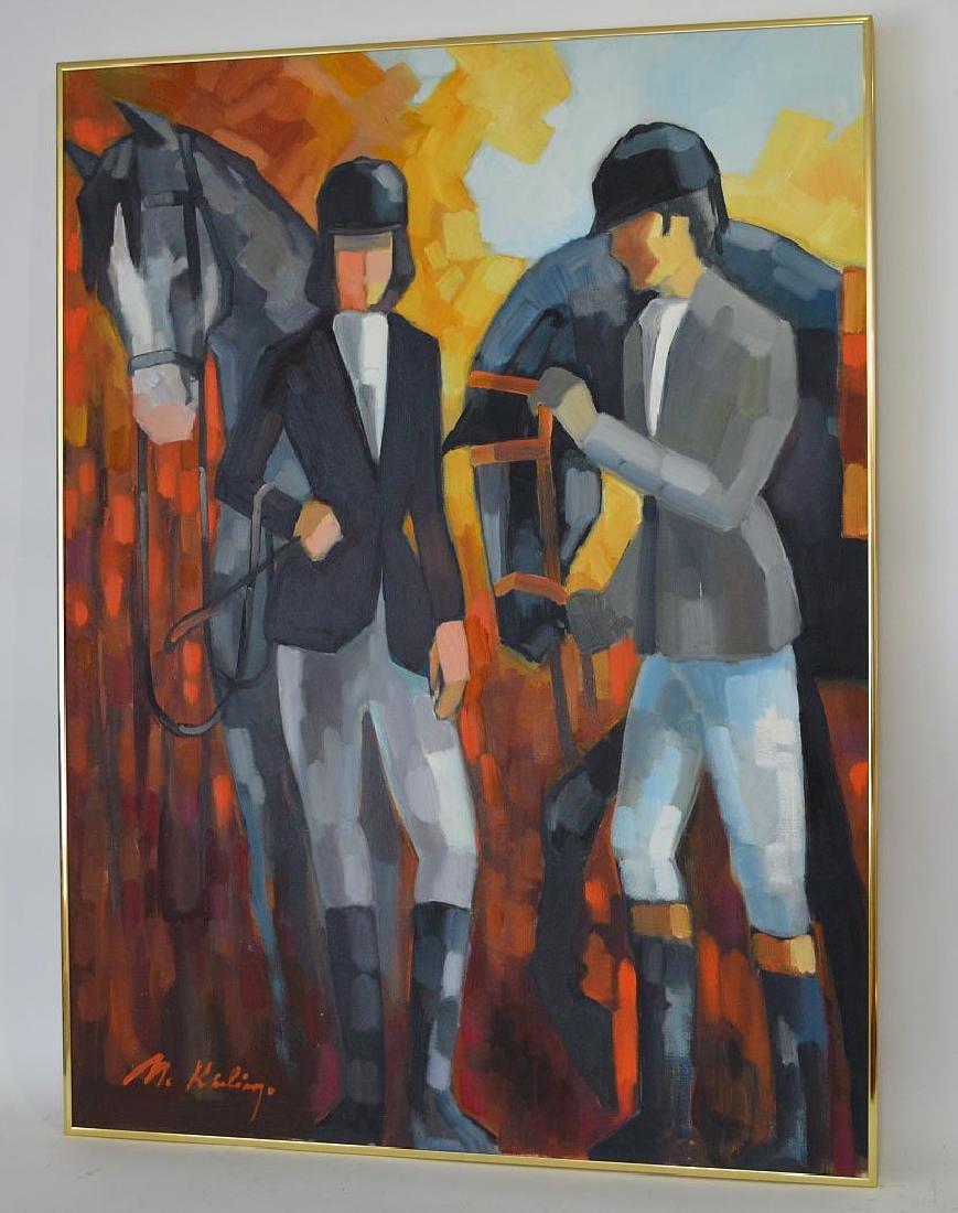 Modern Decorative horse & riders, oil n canvas, 40 x 30