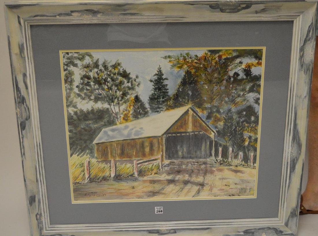 American New England painting by Andrew E Reynolds,