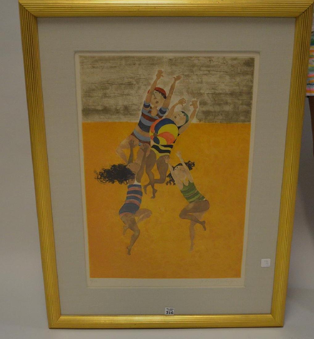 Graciela Rodo Boulanger (born 1935) Lithograph, 4 kids,