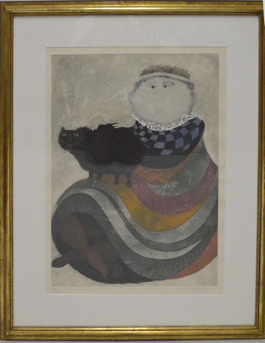 Graciela Rodo Boulanger  (born 1935) Lithograph, Girl