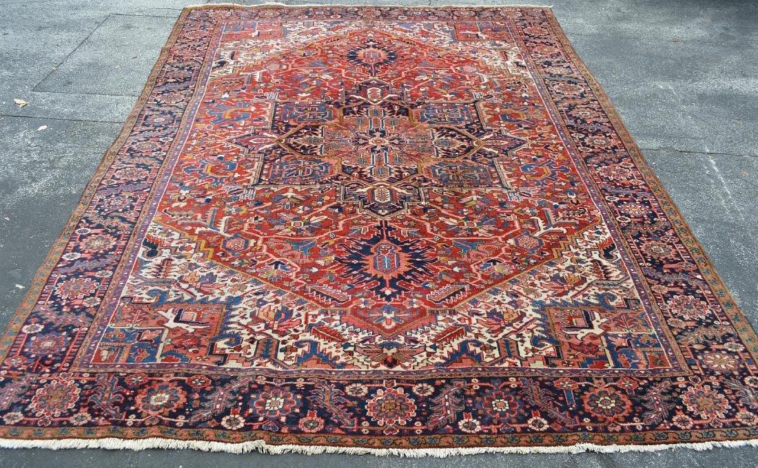 Persian Heriz Oriental Carpet, 13.4 x 10 feet