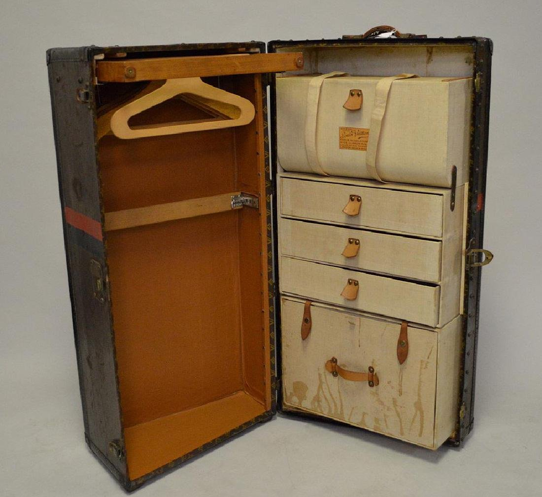 Vintage Louis Vuitton wardrobe, fitted drawer and