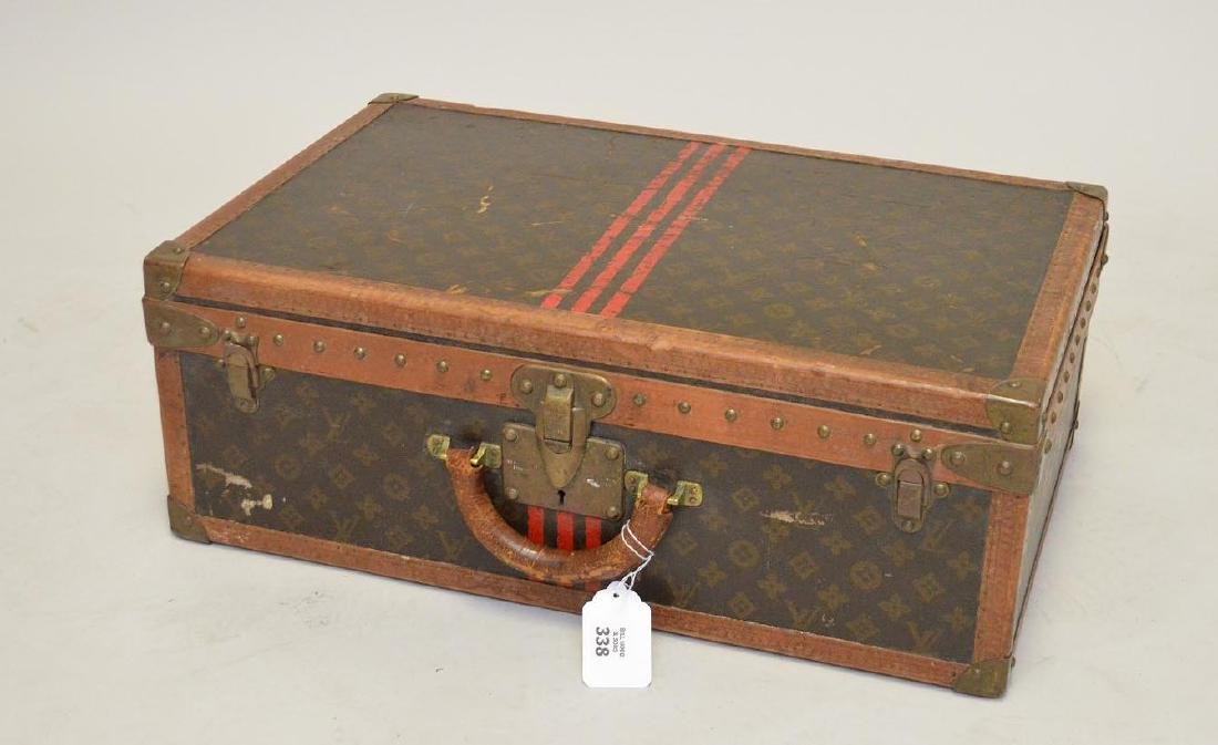 "Vintage Louis Vuitton hard sided suitcase, 16""h x 24""w"