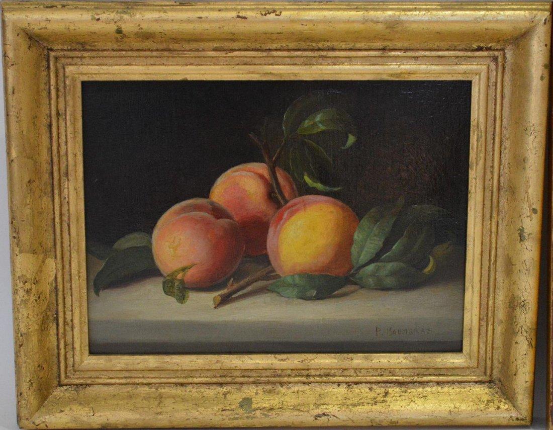 Peter Baumgras (Am. 1827-1904) oil Still Life painting