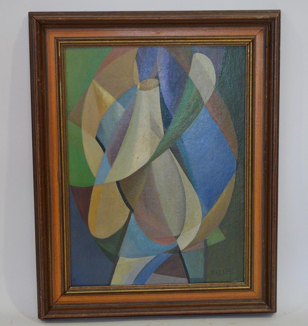 Paul Kelpe (AMERICAN, 1902-1985) oil on board Abstract