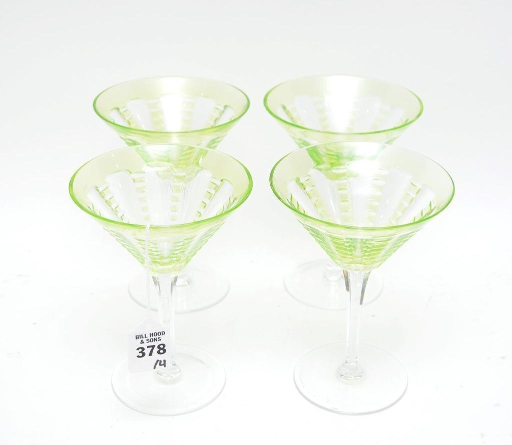 4 William Yeoward Lulu Emerald Martini Glasses