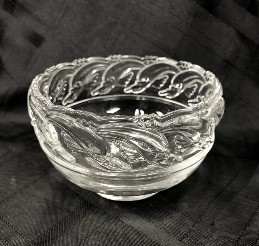Tiffany & Co. Dolphin Crystal Bowl