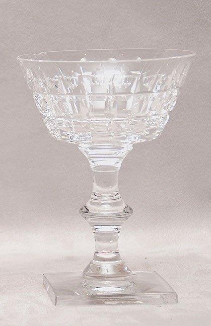 "1003: 8 Hawkes signed crystal sherbet glasses, 6 1/2""h"
