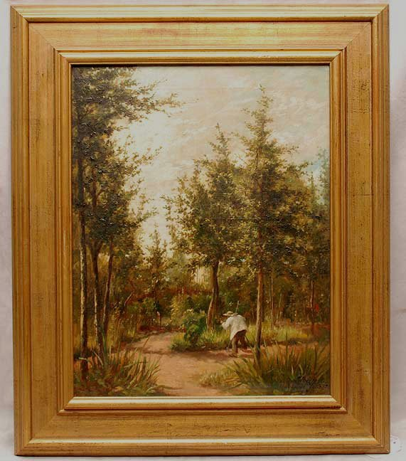 1034: 19th century oil on canvas, signed L. Becker, dat