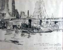 1168 Jack L Gray 19271981 American Charcoal Drawin