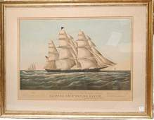 1228 Currier and Ives Clipper ship Flying Cloud 1