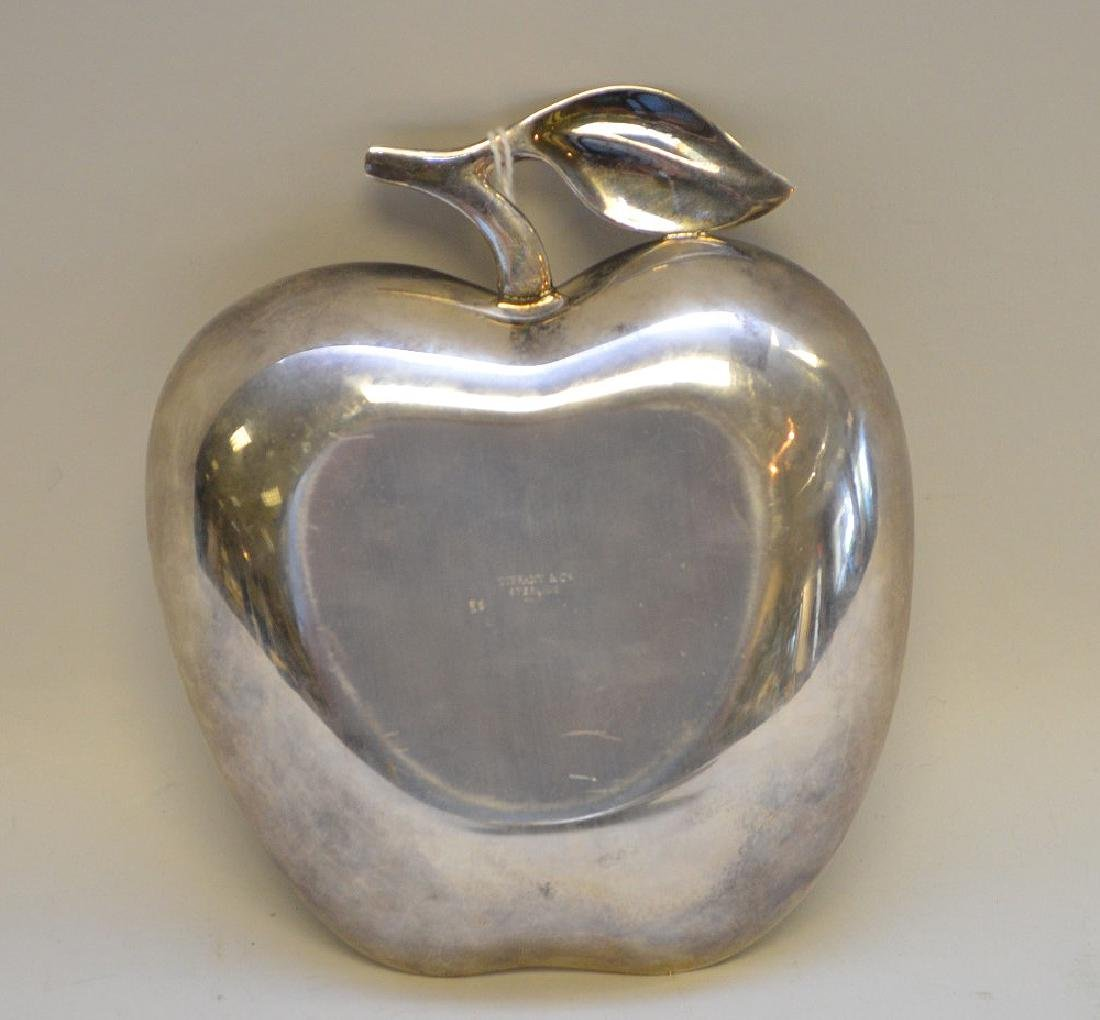 Tiffany & Co Sterling Silver Apple Form Dish - Stamped