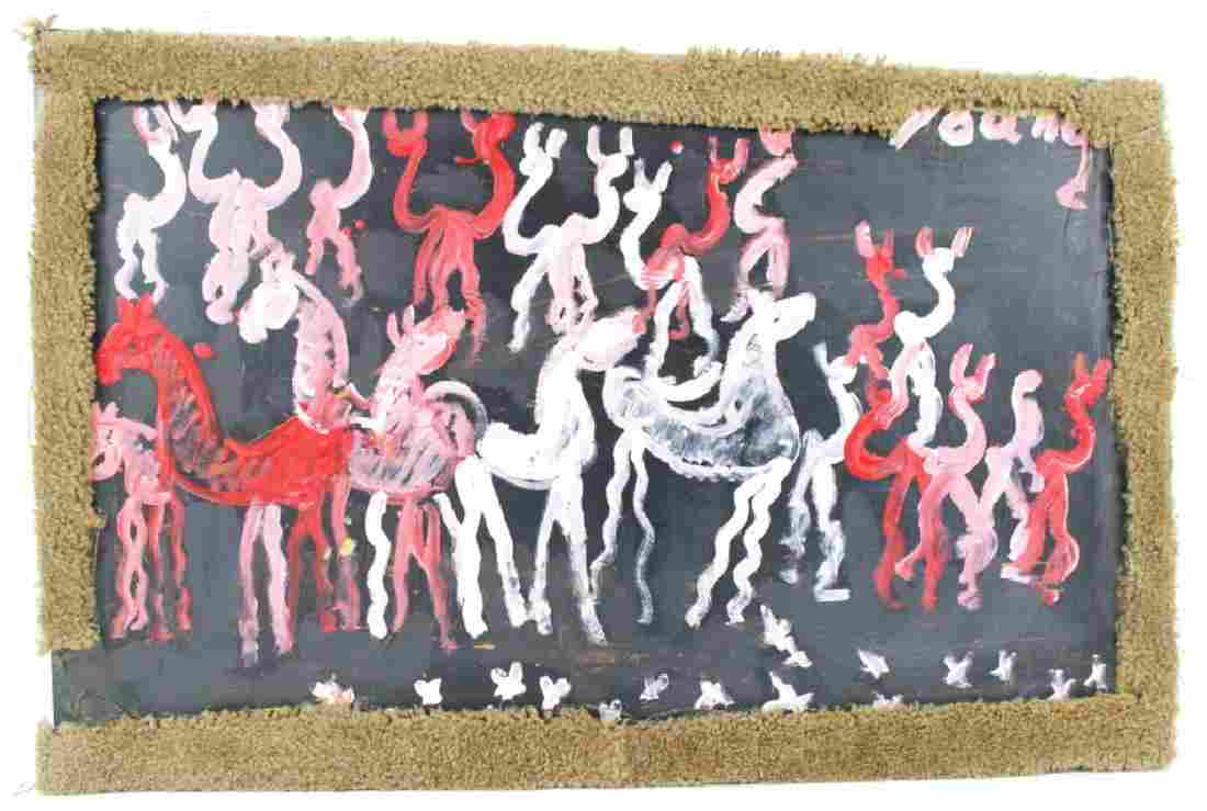 PURVIS YOUNG (AMERICAN 1943-2010) Outsider Folk Art,