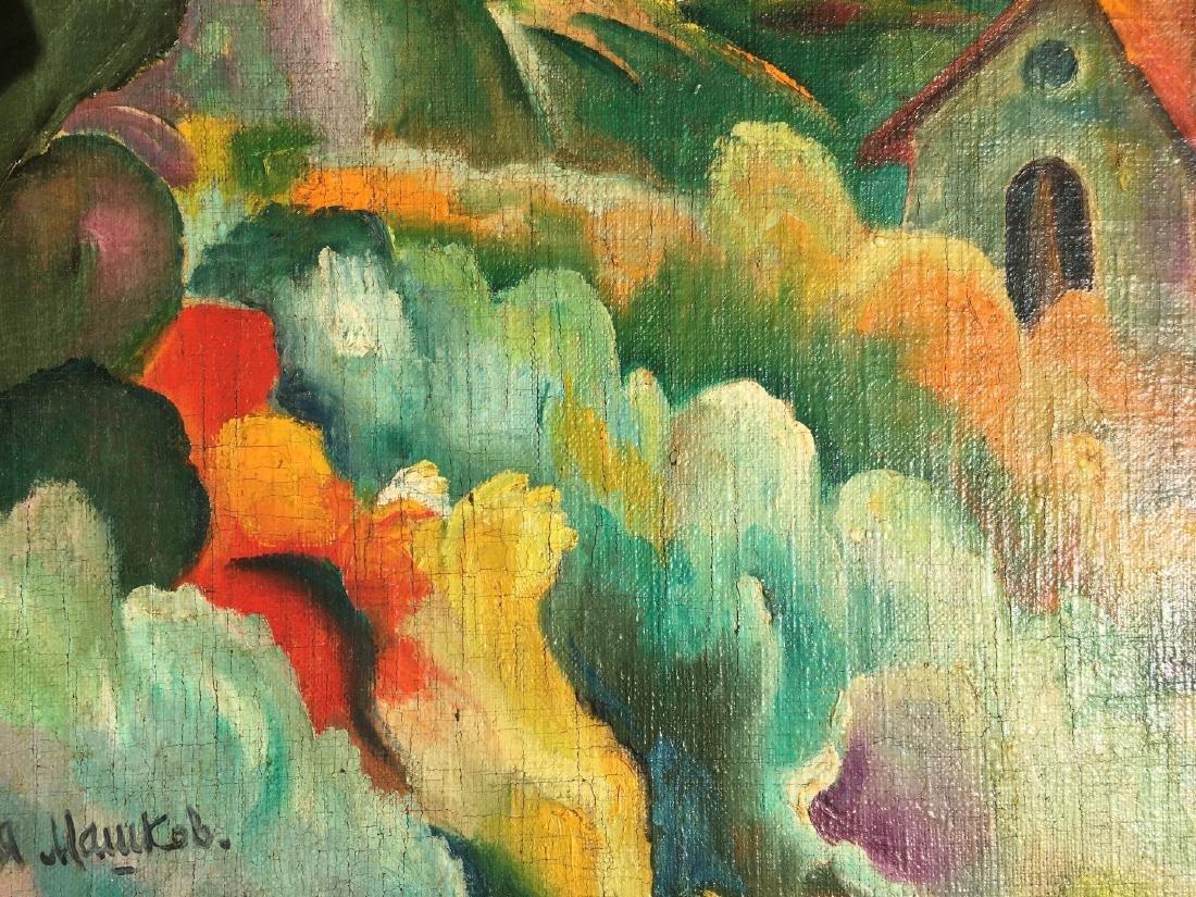 Ilya Ivanovich Mashkov RUSSIAN o/c Painting village - 3