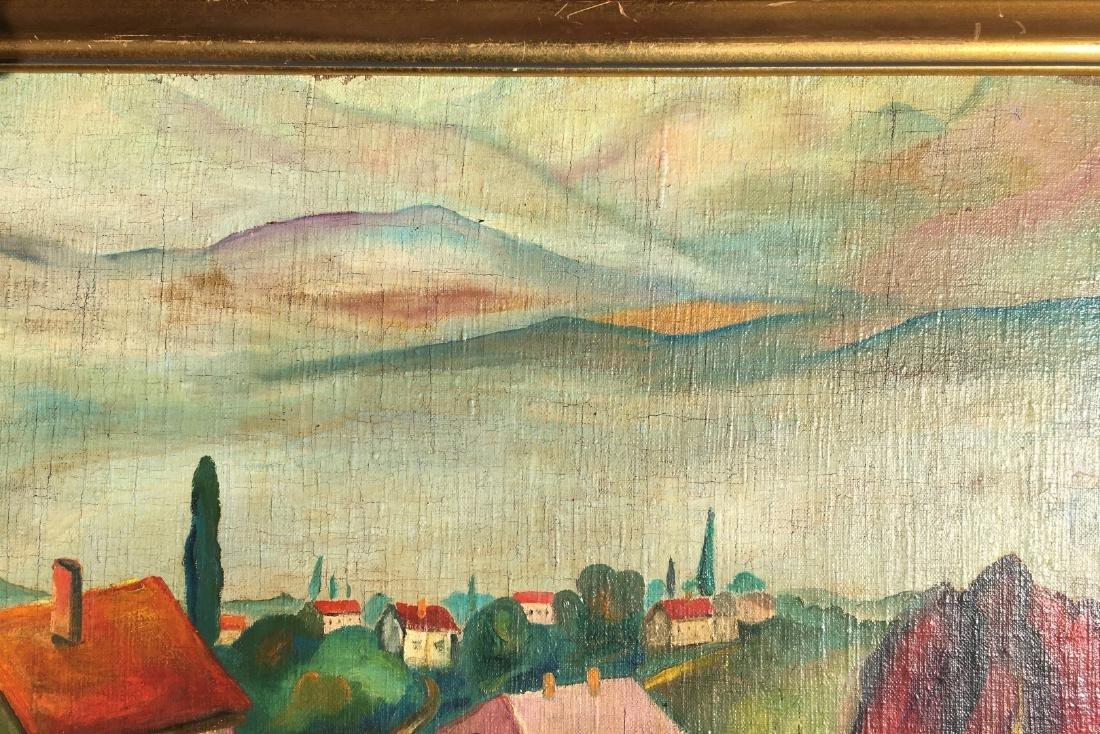 Ilya Ivanovich Mashkov RUSSIAN o/c Painting village - 4