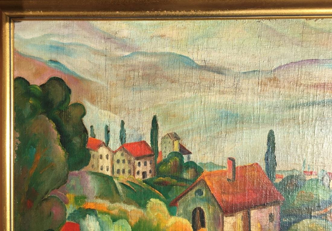 Ilya Ivanovich Mashkov RUSSIAN o/c Painting village - 5