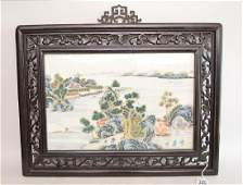 Early Chinese Porcelain Plaque with landscape scene