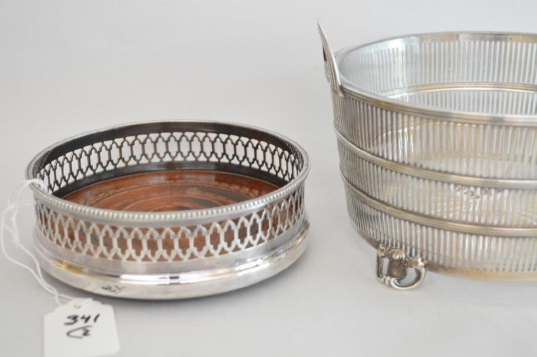 English footed sterling wine coaster and sterling ice - 2