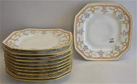 Set 10 Limoges Porcelain Plates retailed by Burley &