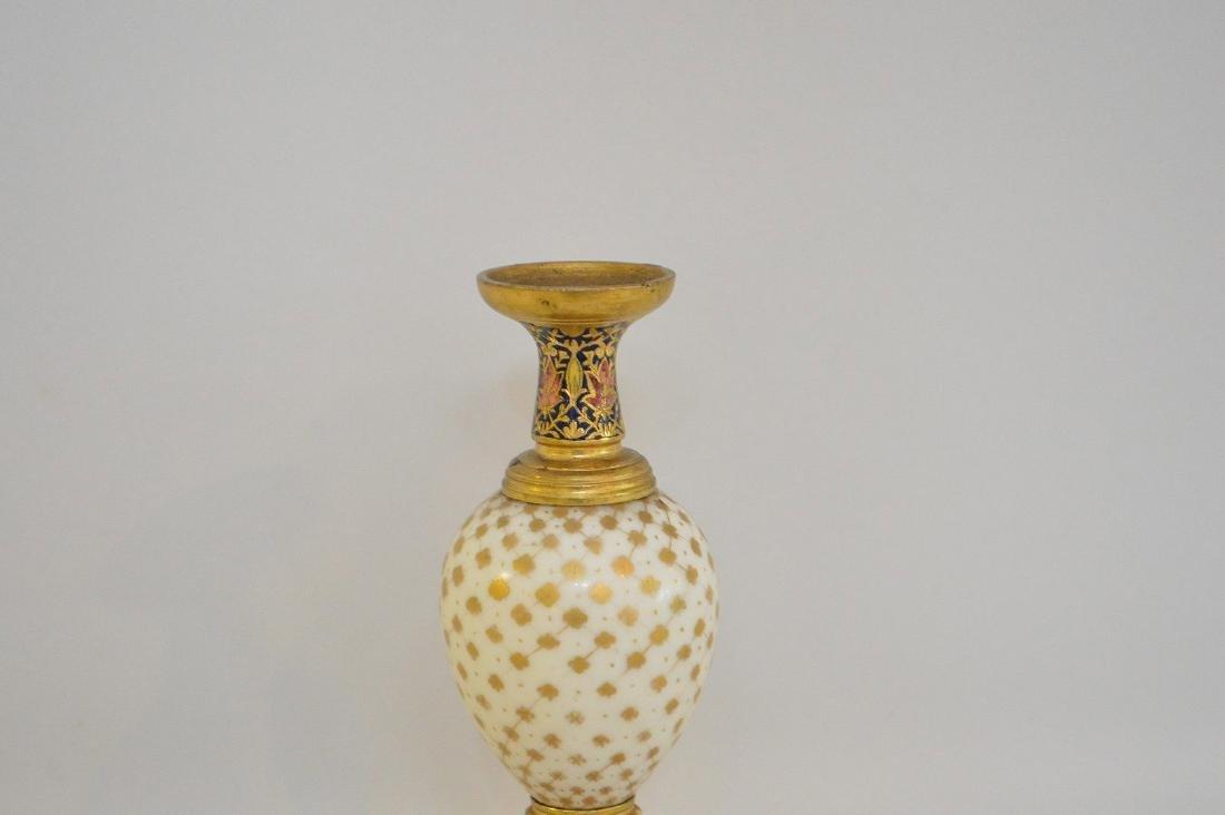 French Bronze Porcelain & Enamel Cabinet Vase.  The - 2