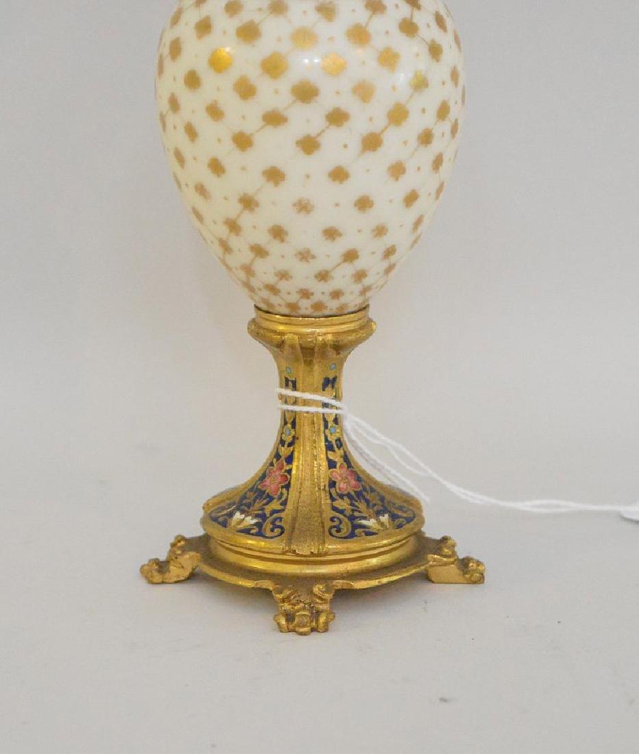 French Bronze Porcelain & Enamel Cabinet Vase.  The - 3
