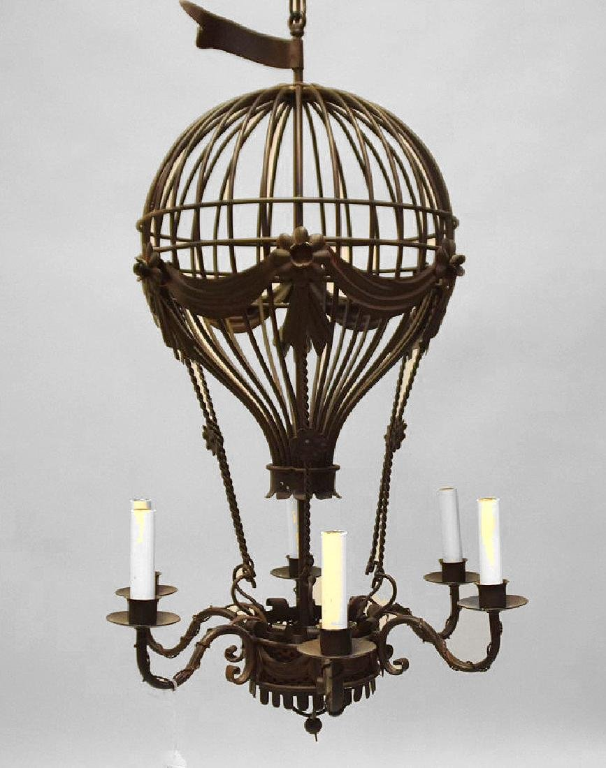 SIX-LIGHT METAL BALLOON FORM CHANDELIER - Condition: