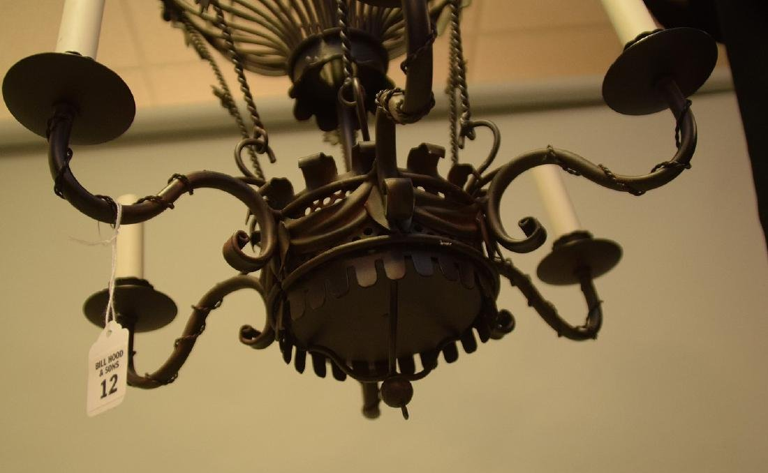 SIX-LIGHT METAL BALLOON FORM CHANDELIER - Condition: - 3