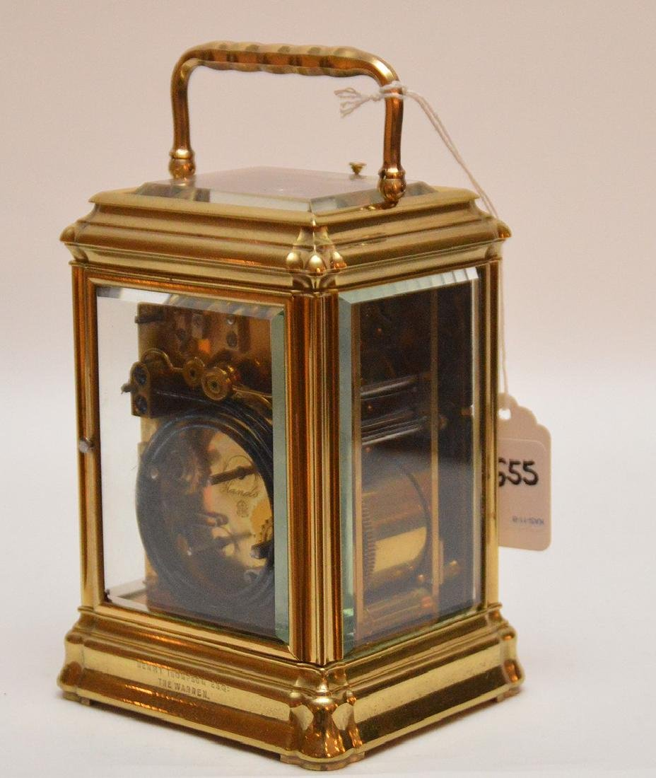 Antique French Sonnere Carriage Clock with repeating - 4
