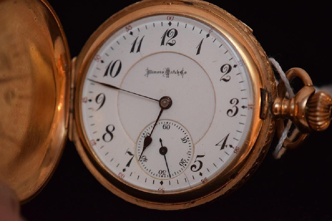 "14K Yellow Gold Illinois  ""Sangamo"" Pocket Watch.  23"