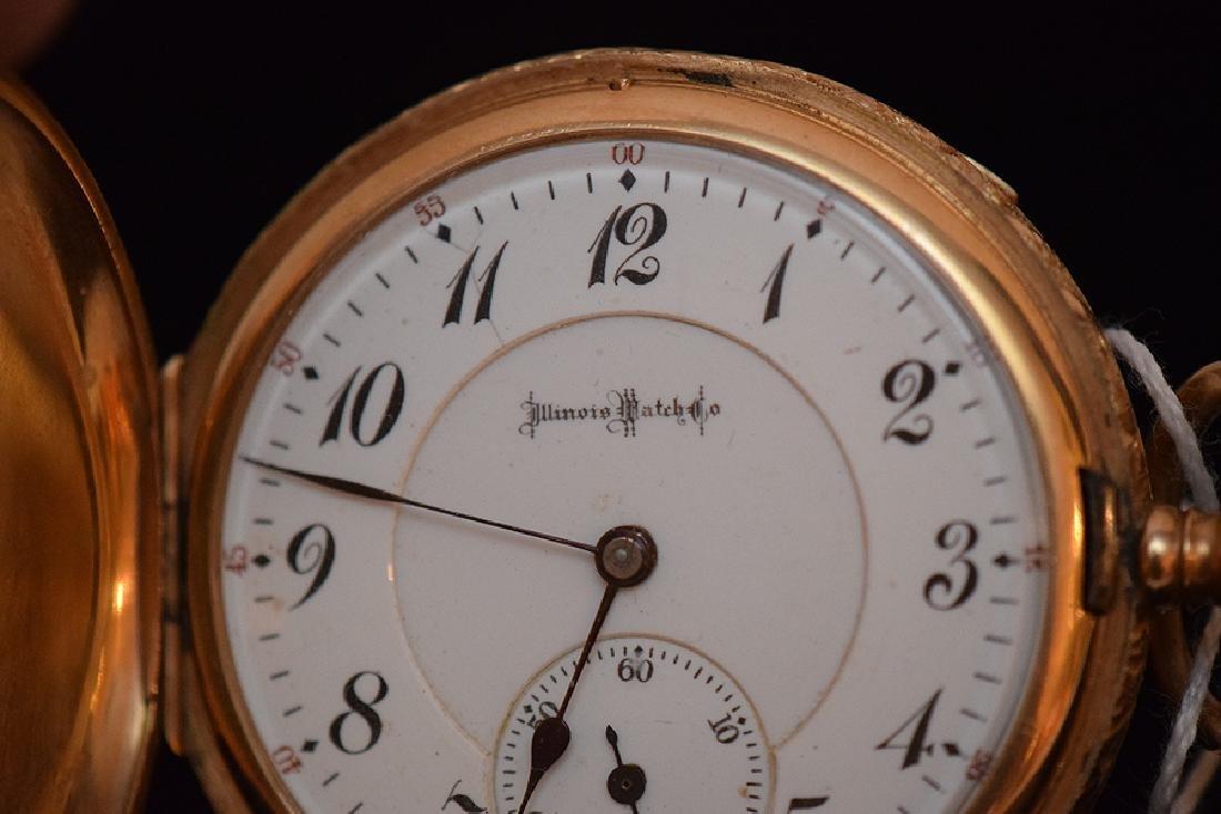 "14K Yellow Gold Illinois  ""Sangamo"" Pocket Watch.  23 - 2"