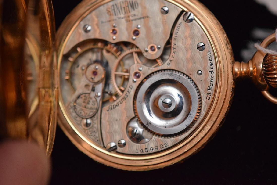 "14K Yellow Gold Illinois  ""Sangamo"" Pocket Watch.  23 - 6"