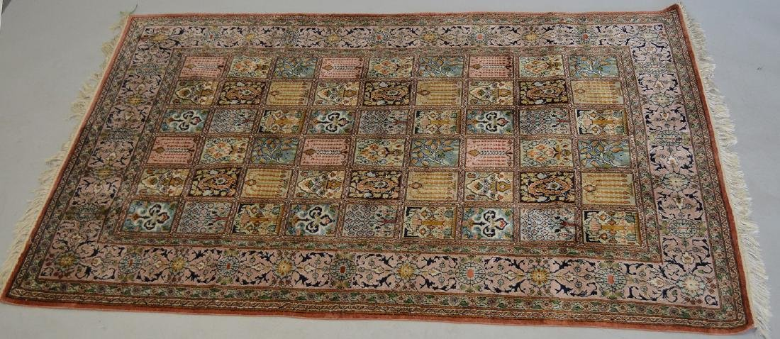 """Persian Silk Rug 3'10"""" x 6'.  Condition: good with no"""