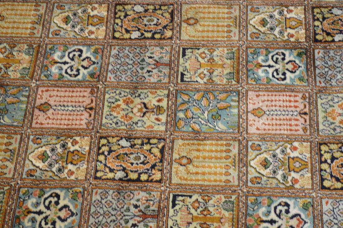 """Persian Silk Rug 3'10"""" x 6'.  Condition: good with no - 3"""