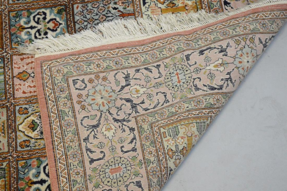 """Persian Silk Rug 3'10"""" x 6'.  Condition: good with no - 4"""