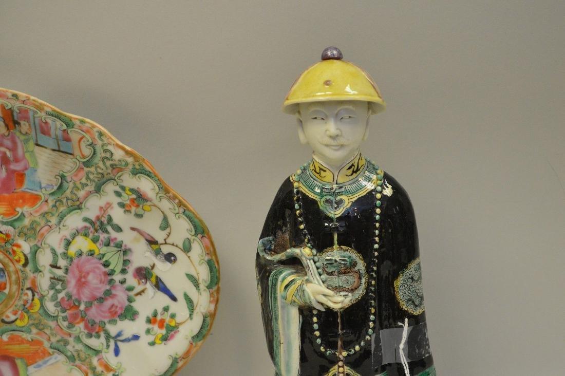 3 PIECES CHINESE PORCELAIN.  Rose Medallion Porcelain - 2