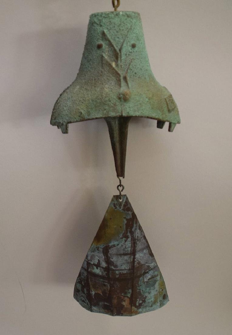 PAOLO SOLERI Bronze Wind Chime Bell, approx. 21 inches - 5