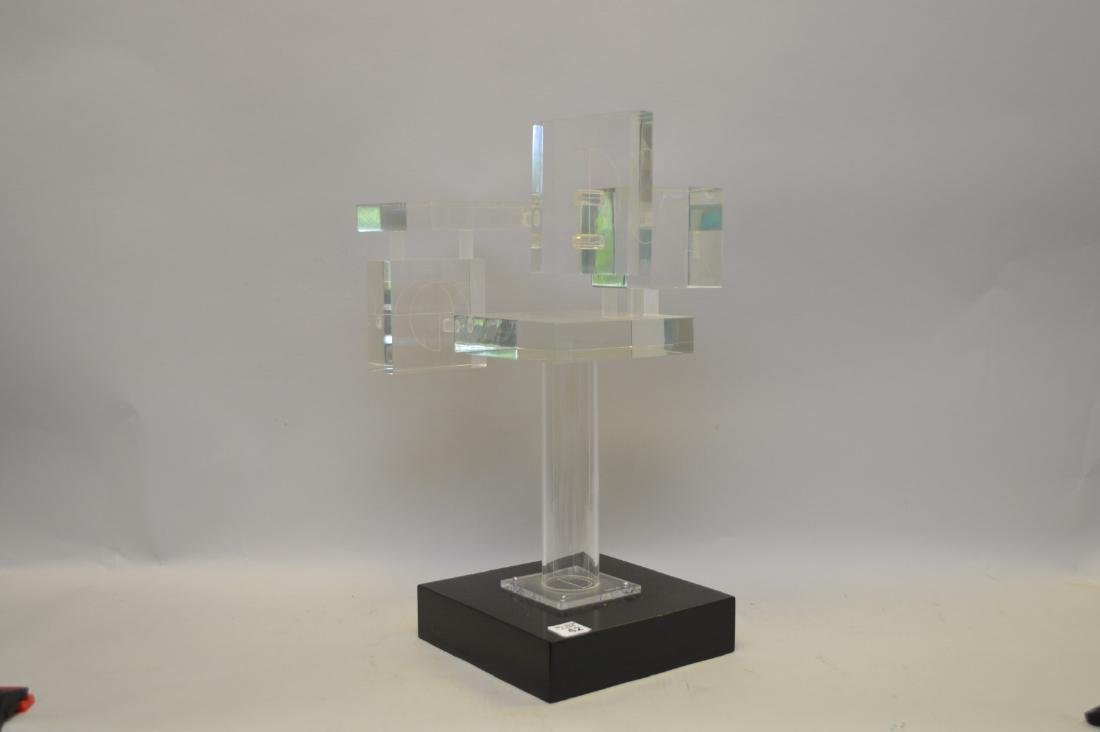 Ted Davis, Mid-Late 20th Century Lucite Sculpture,