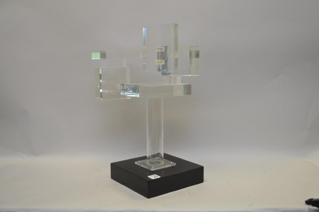 Ted Davis, Mid-Late 20th Century Lucite Sculpture, - 2