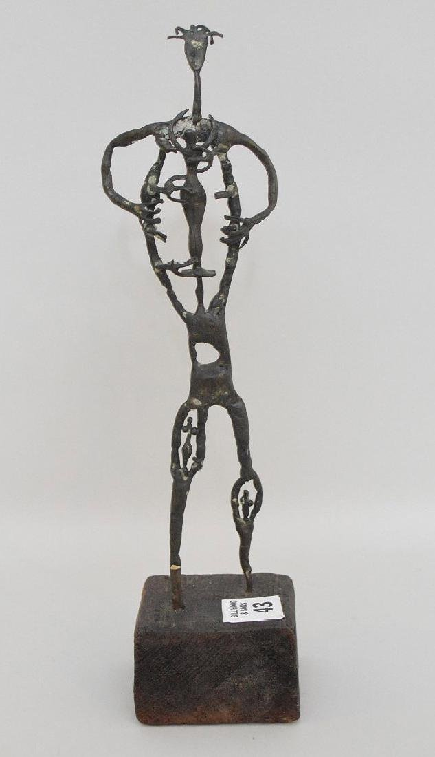 "20th Century Bronze Sculpture, Size: 10"" H  Abstract"