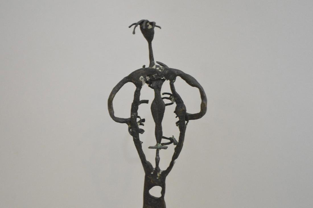 "20th Century Bronze Sculpture, Size: 10"" H  Abstract - 5"