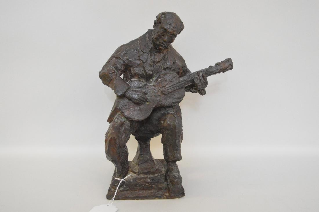 Chaim Gross Bronze Sculpture, Am. 1904-1991, Male
