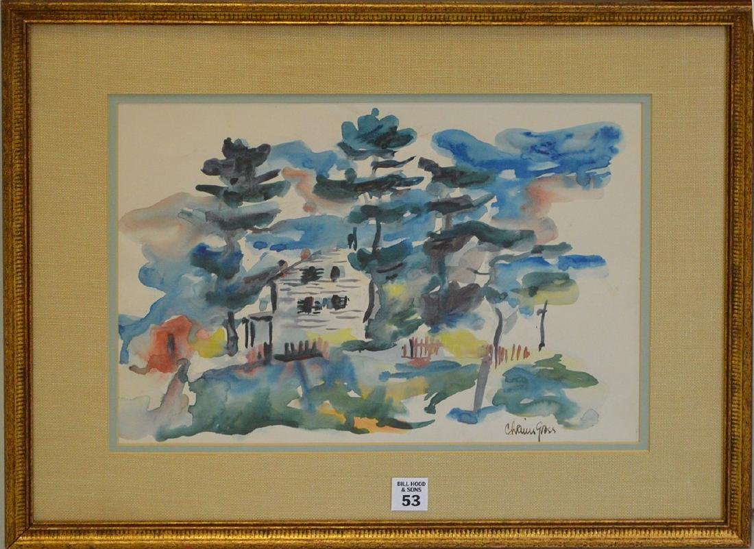 Chaim Gross (American 1904 – 1991) Watercolor on paper,