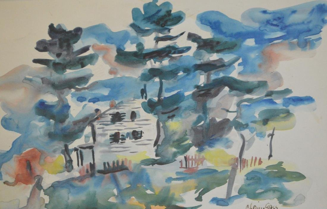 Chaim Gross (American 1904 – 1991) Watercolor on paper, - 2