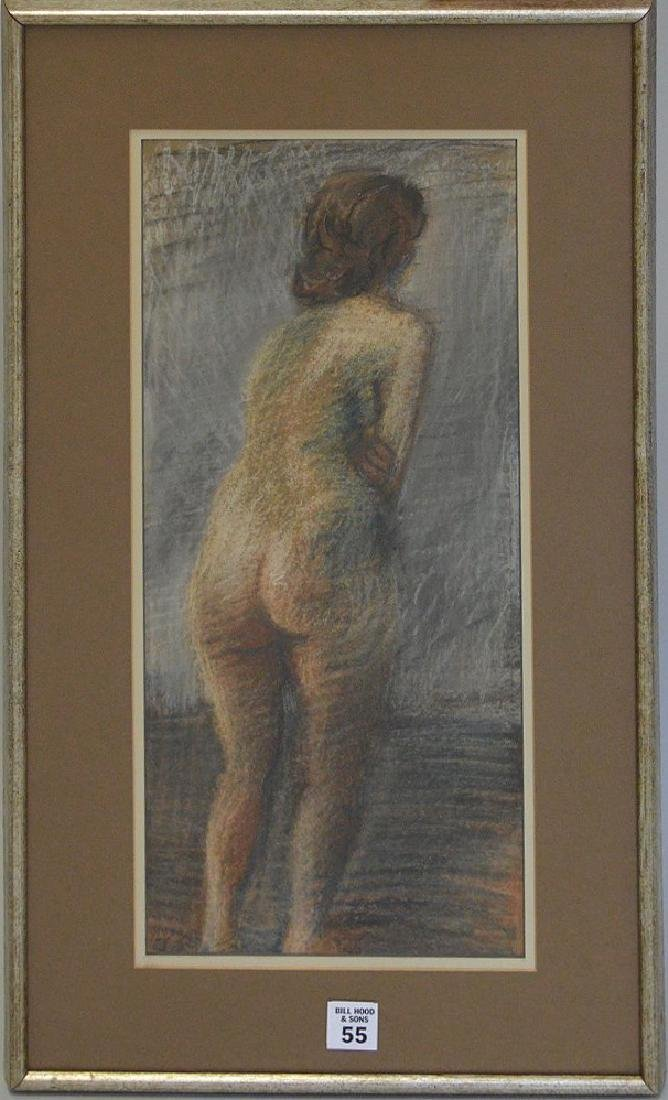 Raphael Soyer Pastel Nude, Russian/American, 20th